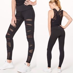 NWT Lululemon Tech Mesh Bandage High Leggings